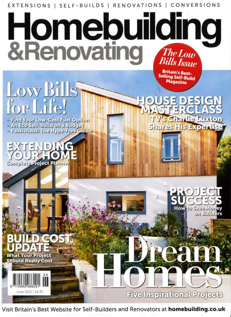 Front cover of 39 homebuilding 39 magazine van ellen for Front of house magazine
