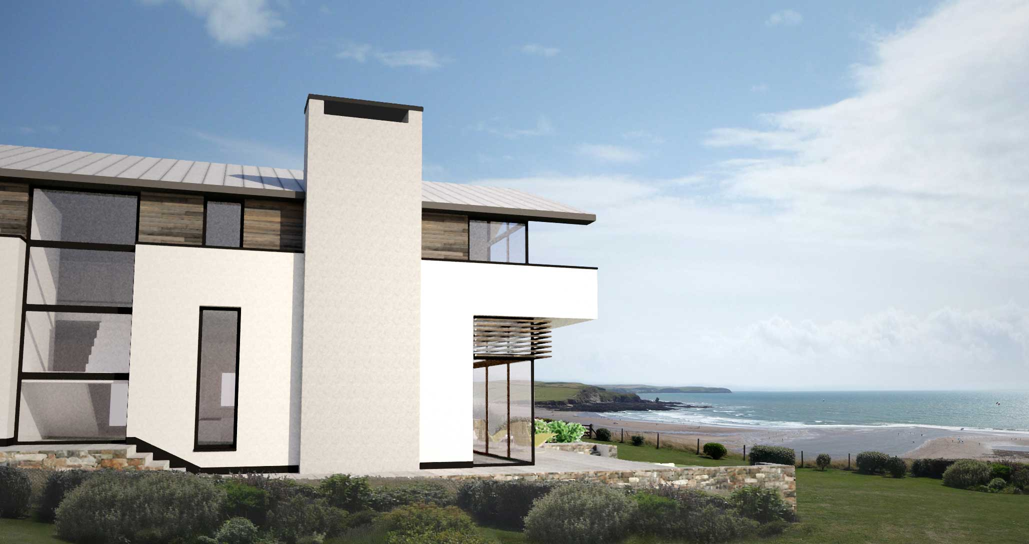 Planning Permission Bigbury: New cliff-top property on Bigbury ...