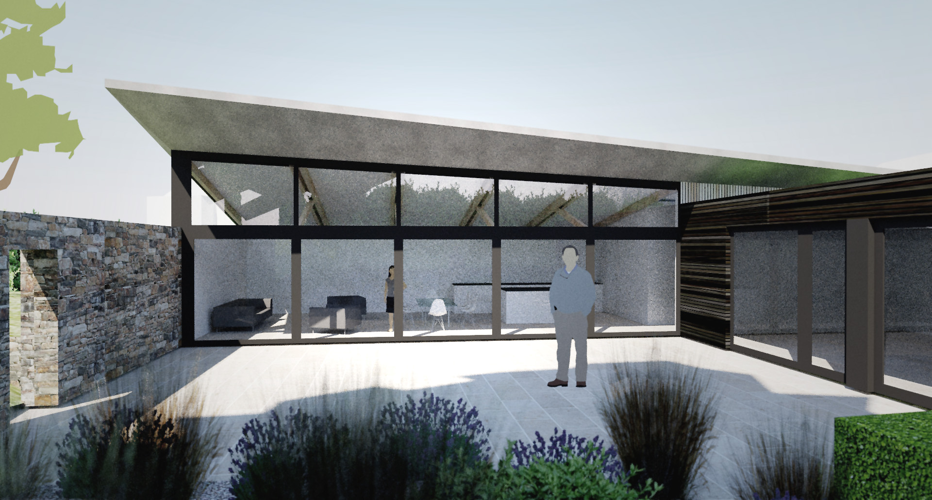 Planning Permission Granted For New Build Contemporary Home In