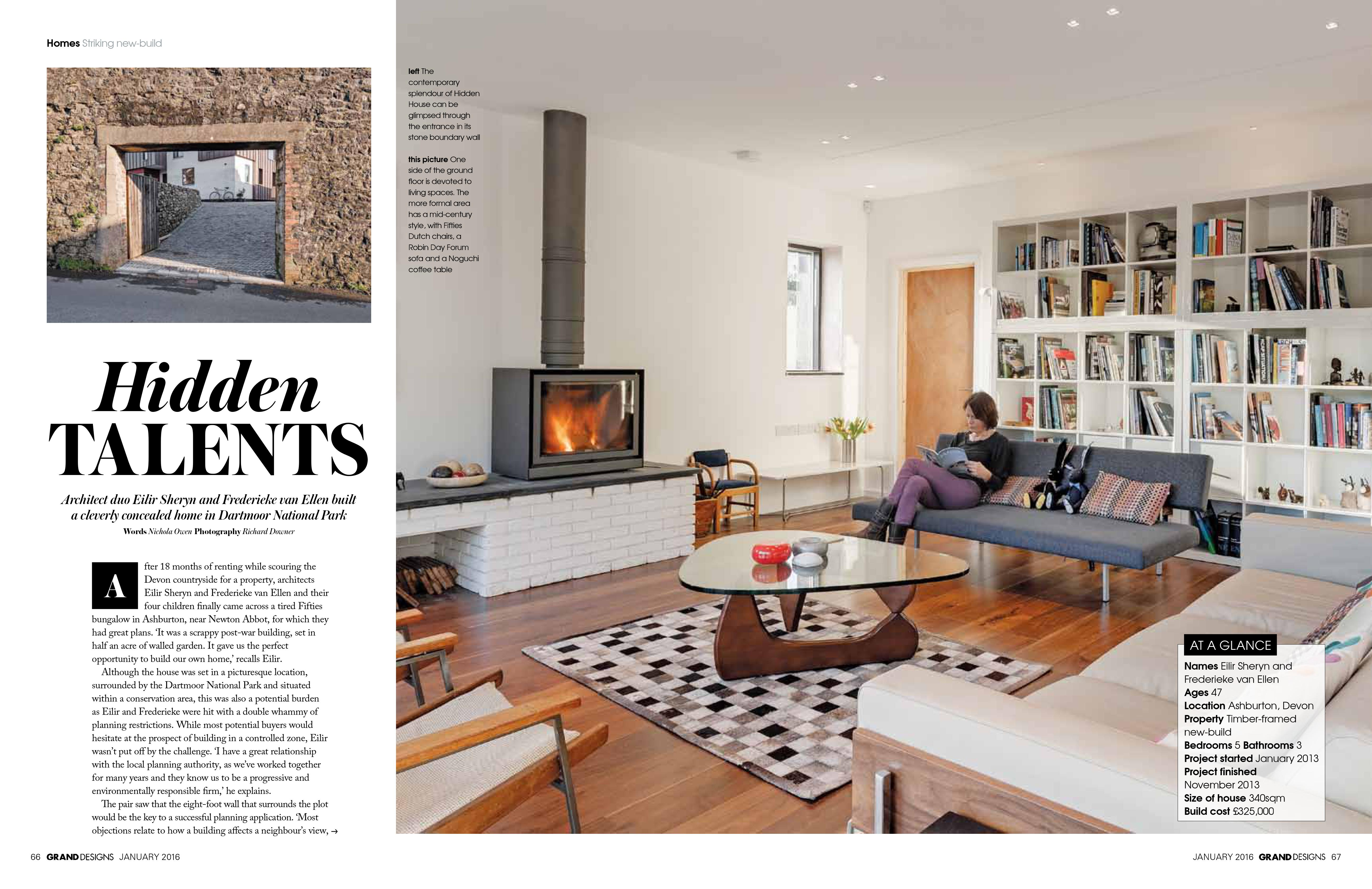 Hidden House Featured In Grand Designs Magazine. - van Ellen + ...