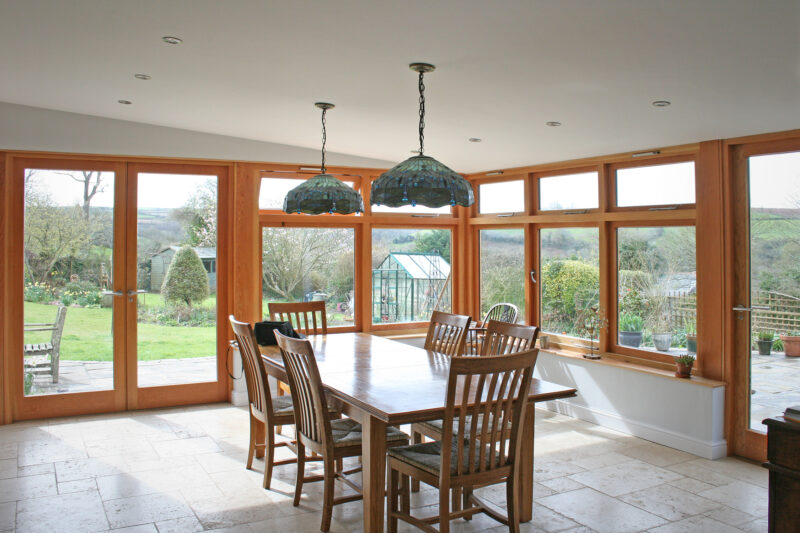 Ashprington, Totnes, Oak and Glass Timber Extension 2