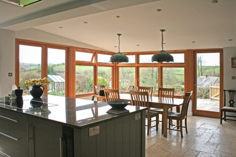 Ashprington, Totnes, Oak and Glass Timber Extension 3