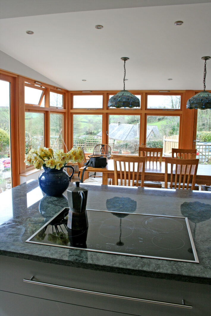 Ashprington, Totnes, Oak and Glass Timber Extension 4