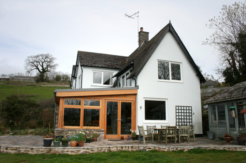 Ashprington, Totnes, Oak and Glass Timber Extension 5