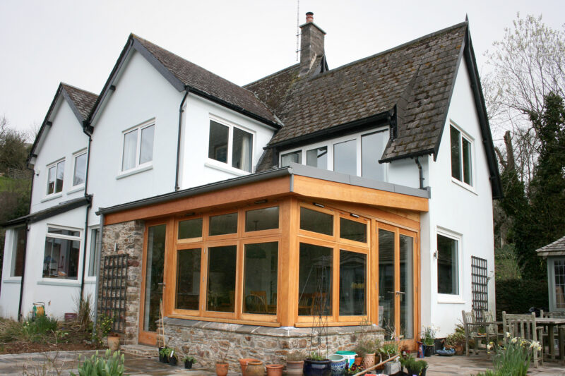 Ashprington, Totnes, Oak and Glass Timber Extension 6