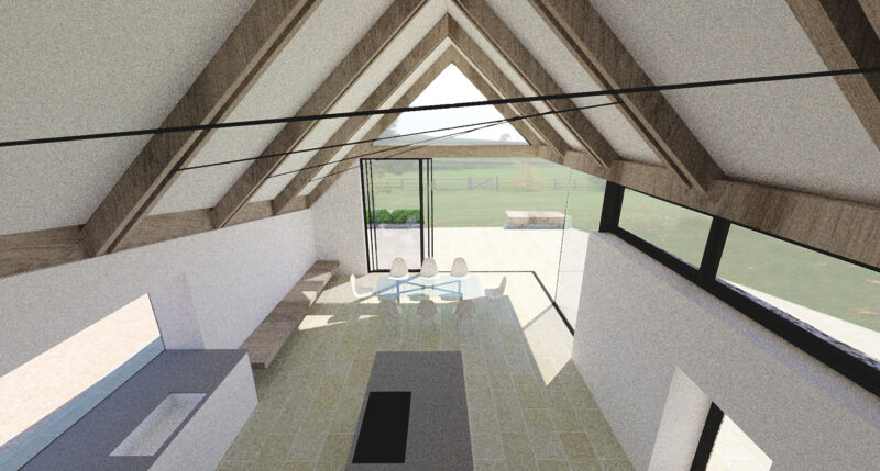 Thatched Farmhouse Extension Interior 2