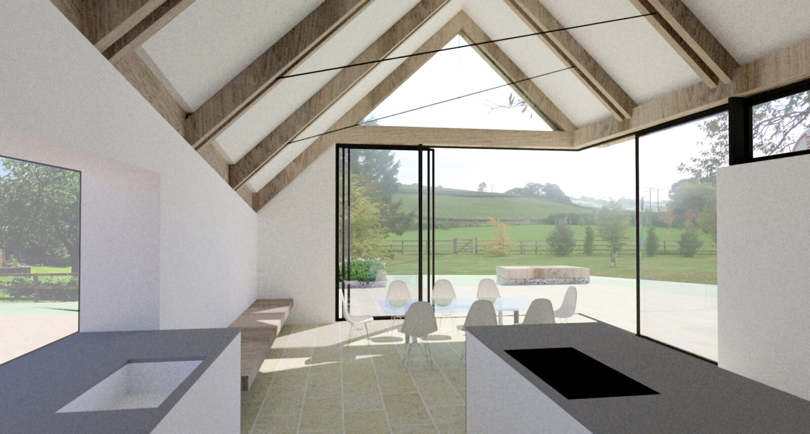 Thatched Farmhouse Extension Interior 1